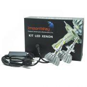 Par Lâmpada Super Led 6000 Lumens 12V 24V 40W Importway H7 6000K