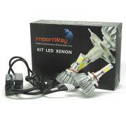 Par Lâmpada Super Led 6000 Lumens 12V 24V 40W Importway HB4 9006 6000K