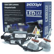 Par Lâmpada Super Led 6400 Lumens 12V 24V 35W Shocklight H11 6000K