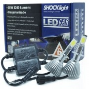 Par Lâmpada Super Led 6400 Lumens 12V 24V 35W Shocklight H1 6000K
