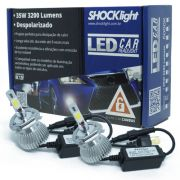 Par Lâmpada Super Led 6400 Lumens 12V 24V 35W Shocklight H4 (Bi) 6000K