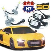 Par Lâmpada Super Led 7400 Lumens 12V 24V 3D H7 6000K