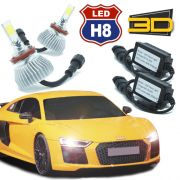 Par Lâmpada Super Led 7400 Lumens 12V 24V 3D H8 6000K