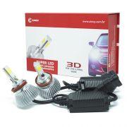 Par Lâmpada Super Led 7400 Lumens 12V 24V 40W Cinoy 3D H8 6000K
