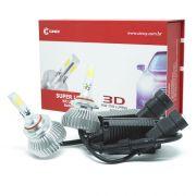 Par Lâmpada Super Led 7400 Lumens 12V 24V 40W Cinoy 3D HB3 9005 6000K
