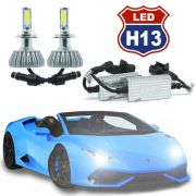 Kit Par Lâmpada Super Led Automotiva Farol Carro 3D H13 (Bi) 8000 Lumens 12V 24V 6000K