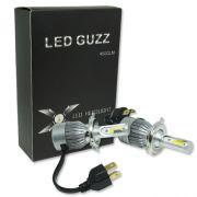 Par Lâmpada Super Led 9000 Lumens 12V 24V 40W Guzz H4 (Bi) 6000K