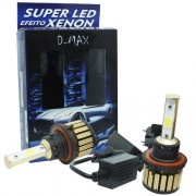 Par Lâmpada Super Led Automotiva Kit 9000 Lumens 12V 24V 48W D-Max Farol H13 (Bi) 6000K