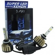 Par Lâmpada Super Led Automotiva Kit 9000 Lumens 12V 24V 48W D-Max Farol H27 6000K