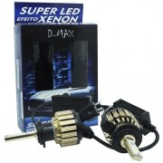 Par Lâmpada Super Led Automotiva Kit 9000 Lumens 12V 24V 48W D-Max Farol H7 6000K