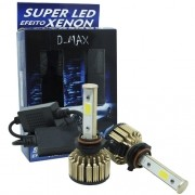 Par Lâmpada Super Led Automotiva Kit 9000 Lumens 12V 24V 48W D-Max Farol HB3 9005 6000K