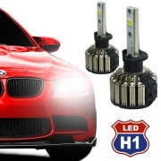 Par Lâmpada Super Led Automotiva Kit 9000 Lumens 12V 24V Farol H1 6000K