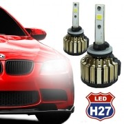 Par Lâmpada Super Led Automotiva Kit 9000 Lumens 12V 24V Farol H27 6000K