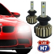 Par Lâmpada Super Led Automotiva Kit 9000 Lumens 12V 24V Farol H7 6000K