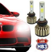 Par Lâmpada Super Led Automotiva Kit 9000 Lumens 12V 24V Farol HB3 9005 6000K