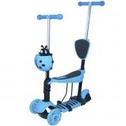 Patinete Infantil 3 Rodas 3x1 Scooter Cadeirinha Assento Empurrador Triciclo Importway BW-048AZ Azul