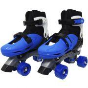 Patins Clássico Quad 4 Rodas Roller de Rua Masculino Azul Tamanho 37 38 39 40 Importway BW-016-AZ
