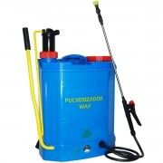 Pulverizador 2x1 Elétrico Bateria e Manual Costal 20 Litros 3 Bico Bomba Veneno Importway IWP2X1-020
