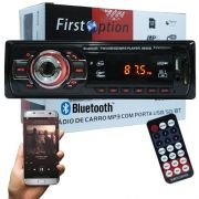 Auto Rádio Som Mp3 Player Automotivo Carro Bluetooth First Option 6650BSC Fm Sd Usb Controle