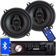 Rádio Mp3 Player Automotivo Bluetooth Fm Usb Roadstar RS-2709BR + 2 Alto Falante 5 Pol 110W Rms