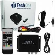 Receptor Tv Digital Automotivo para Dvd Tech One com Antena e Controle