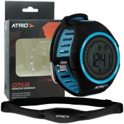 Relógio Monitor Cardíaco de Pulso com Cinta Fita Atrio Citius Frequencimetro Batimento Hora ES050