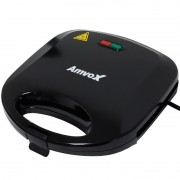 Sanduicheira e Grill Elétrica 750W Dupla Antiaderente Amvox AMS 370 New Preta