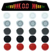 Sensor de Ré Estacionamento Universal 4 Pontos Display Led