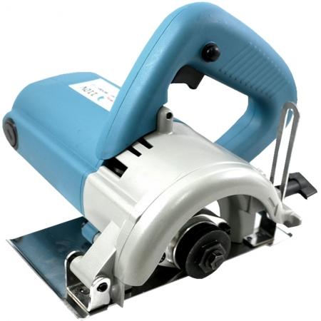 Serra Mármore 4.3/8´´ 110mm 1200W 110V 127V 12000 Rpm com 2 Discos Importway Tipo Makita Azul