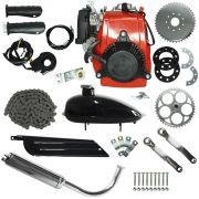 Super Kit Motor Bicicleta Motorizada 4 Tempos 49CC Gasolina Completo Importway IWMB-049G Prata