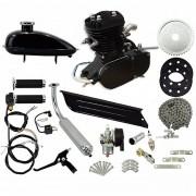 Super Kit Motor Bicicleta Motorizada Gasolina 80CC 2T Completo Preto Importway Barato