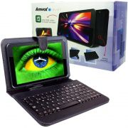Tablet Amvox Tela 7.0 8GB Quad Core Android 4.4 Wifi 3G ATB 440T Câmera Teclado Case Preto