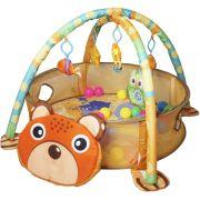 Tapete de Atividades Bebe Infantil 3x1 Piscina Bolinhas 4 Brinquedos Interativo Importway BWTI-3X1