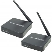 Transmissor Hdmi Wireless Extensor Sem Fio 1080P 5.8 GHz 100 Metros Adaptador 3137 Bivolt