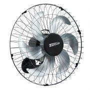 Ventilador Parede 50cm 220V 200W Industrial Turbo Turbão 6 Pás Grade 40 Fios GA Vitalex Preto