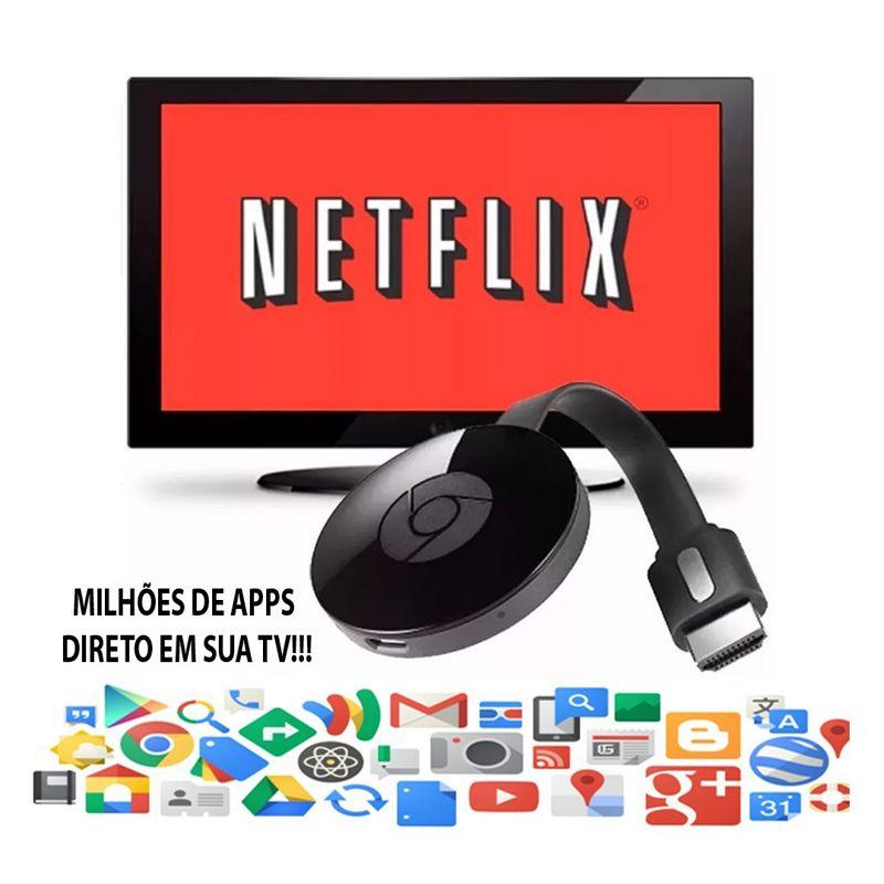 Adaptador Espelhamento Tv Chomecase Wecast Hdmi = Chomecast Anycast Full Hd 1080p  - BEST SALE SHOP