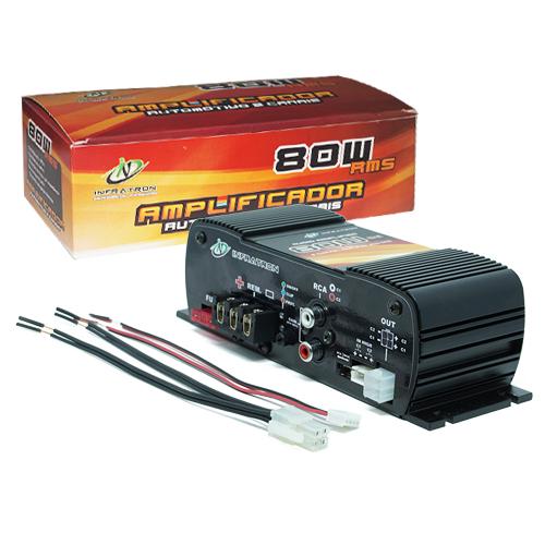 Amplificador Módulo Potência Digital Infratron INF-80W2 80w Rms 2 Canais Stereo  - BEST SALE SHOP