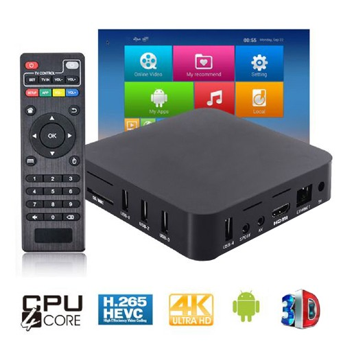 Aparelho Conversor Smart Box Tv Quad Core 8Gb Android 7.1 Exbom OTT-A2 4K 3D Ultra HD Hdmi Usb Wifi  - BEST SALE SHOP