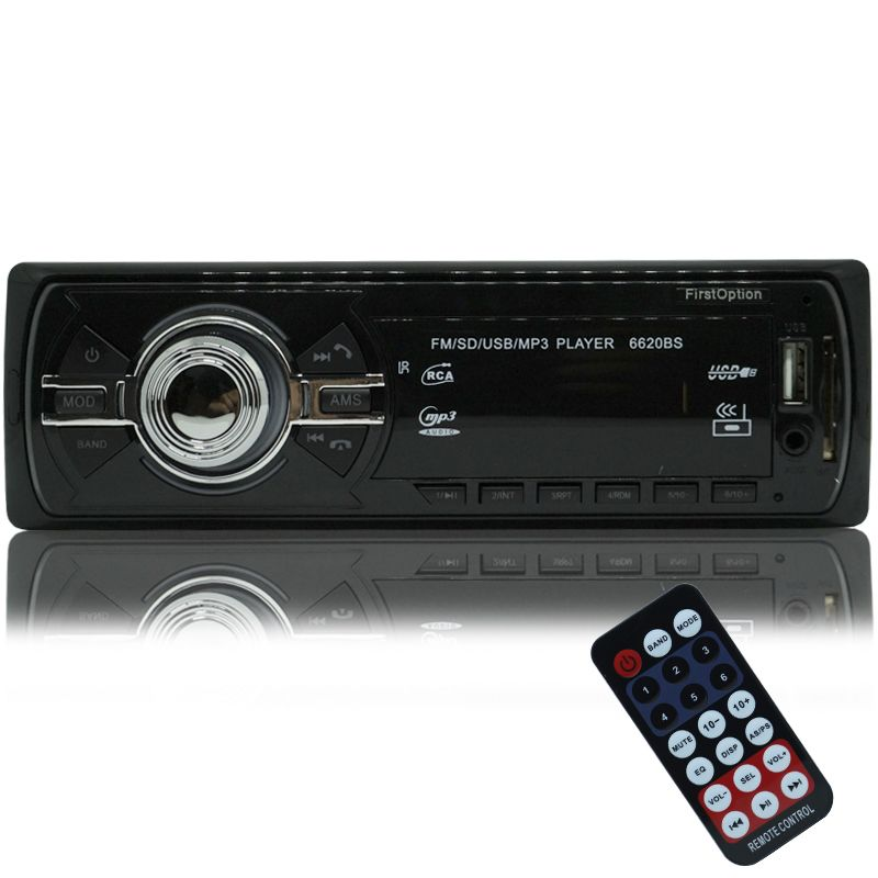 Auto Rádio Som Mp3 Player Automotivo Carro Bluetooth First Option 6620BSC Fm Sd Usb Controle  - BEST SALE SHOP