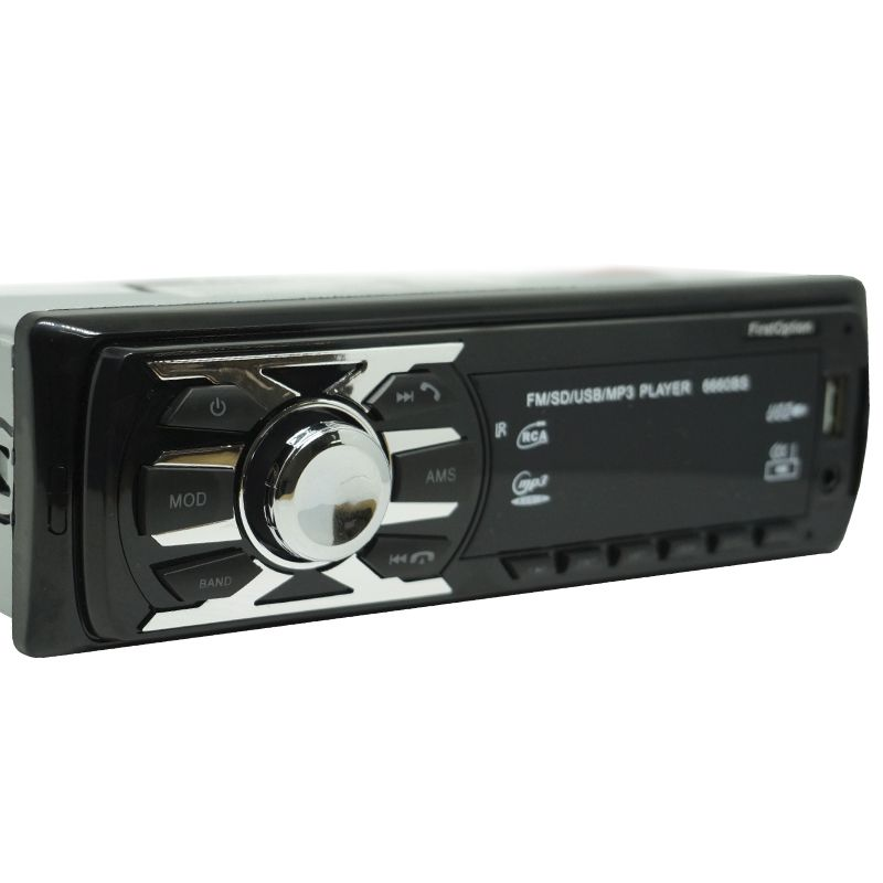 Auto Rádio Som Mp3 Player Automotivo Carro Bluetooth First Option 6660BS Fm Sd Usb Aux - BEST SALE SHOP