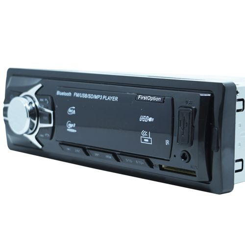 Auto Rádio Som Mp3 Player Automotivo Carro Bluetooth First Option 6680BSC Fm Sd Usb Controle