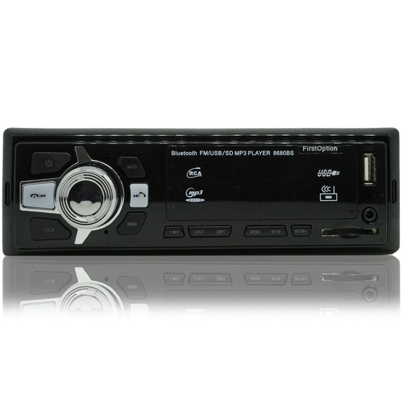 Auto Rádio Som Mp3 Player Automotivo Carro Bluetooth First Option 8680BS Fm Sd Usb Aux  - BEST SALE SHOP
