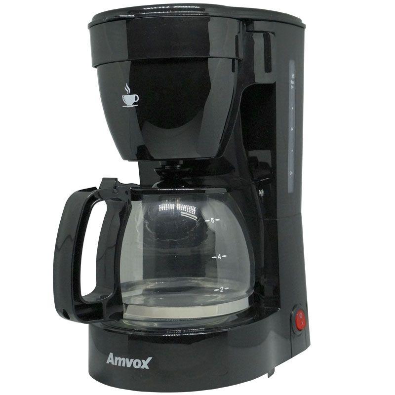 Cafeteira Elétrica 110V 14 Xícaras Café Amvox Nova com Colher Dosadoura ACF 227 NEW Preta  - BEST SALE SHOP