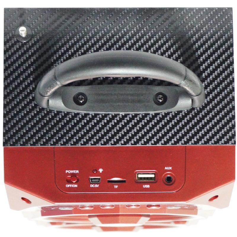Caixa Som Amplificada Portátil Bluetooth Mp3 Fm Usb Sd Aux Bateria 10W Rms Exbom Vermelha CS-M436BT