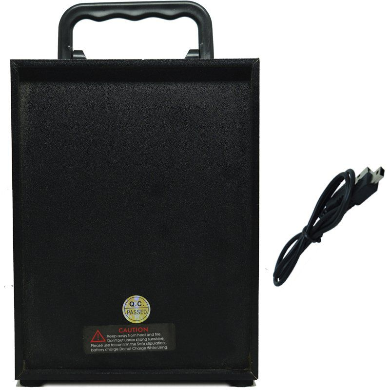 Caixa Som Amplificada Portátil Bluetooth Mp3 Fm Usb Sd Aux Bateria 5W Rms Led Rgb KTS-943A Azul