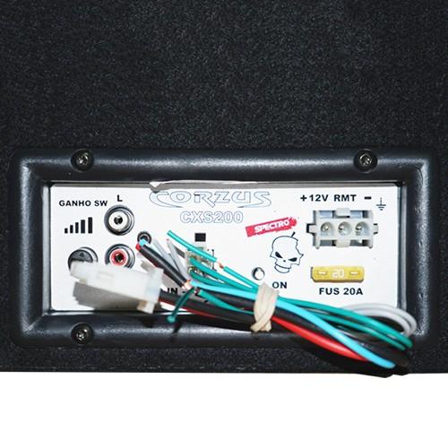 Caixa Som Automotivo Amplificada Subwoofer 8 200W Rms Corzus CXS200-8 com Módulo Mono  - BEST SALE SHOP