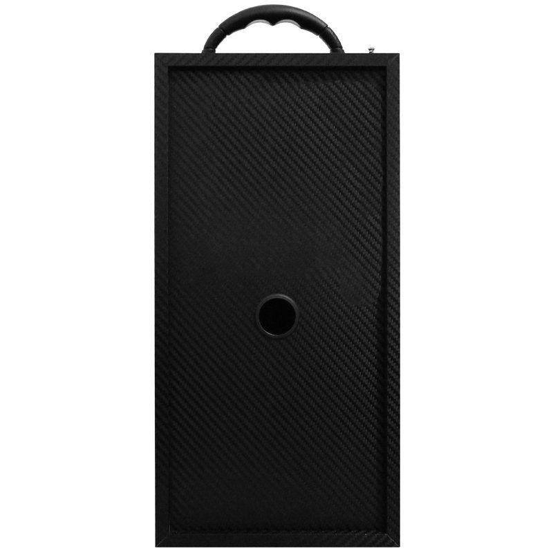 Caixa Som Portátil Bluetooth Mp3 Fm Usb Sd Aux Microfone Bateria 12W Rms Infokit Preta VC-M875QBT