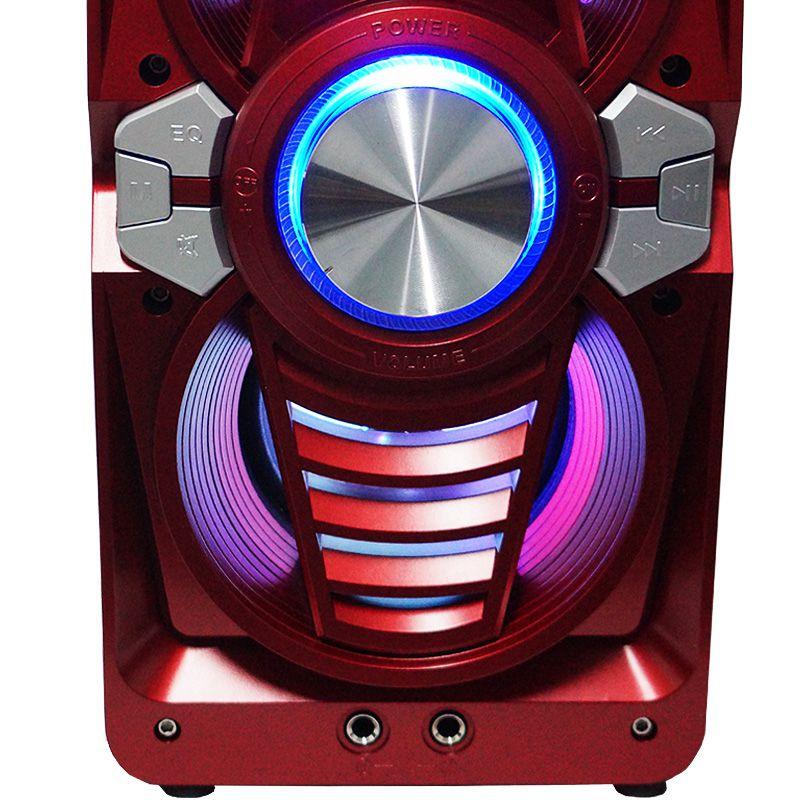 Caixa Som Portátil Bluetooth Mp3 Fm Usb Sd Aux Microfone Bateria 12W Rms Infokit Vermelha VC-M873BT