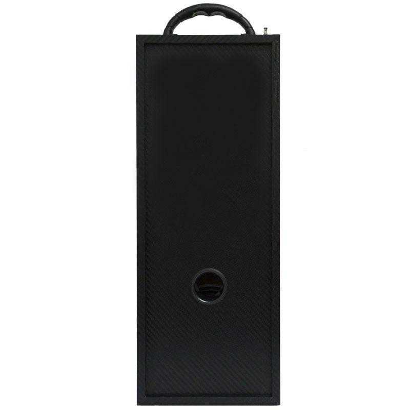 Caixa Som Portátil Bluetooth Mp3 Fm Usb Sd Microfone Bateria 18W Rms Infokit Preta VC-M910BT