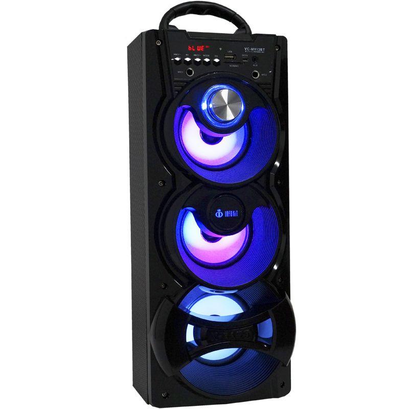 Caixa Som Portátil Bluetooth Mp3 Fm Usb Sd Microfone Bateria 18W Rms Infokit Preta VC-M913BT  - BEST SALE SHOP